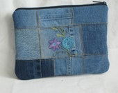 Upcycled Denim Jeans Kindle/Medium Tablet Sleeve 292