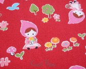 Little Red Riding Hood on Red - Fat Quarter (12nu0724)