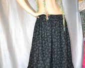 Gypsy Hippie Patticoat Skirt In Black