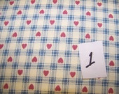 Plaid fabric with hearts and stars