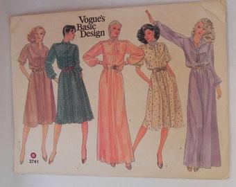 Vogue Basic Design dress pattern, 1970s
