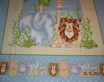 Super Cuddly Jungle Animal Theme Baby Quilt