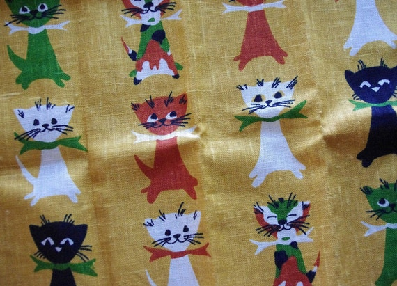 Fantastic Fifties Feline Tammis Keefe Tea Towel
