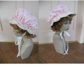 Bonnet hat Renaissance Regency mop mob 2 in 1 cap straw Holly Hobbie Hobby Bo Peep Muffet