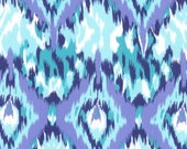ikat fabric in teal by dear stells in half yards