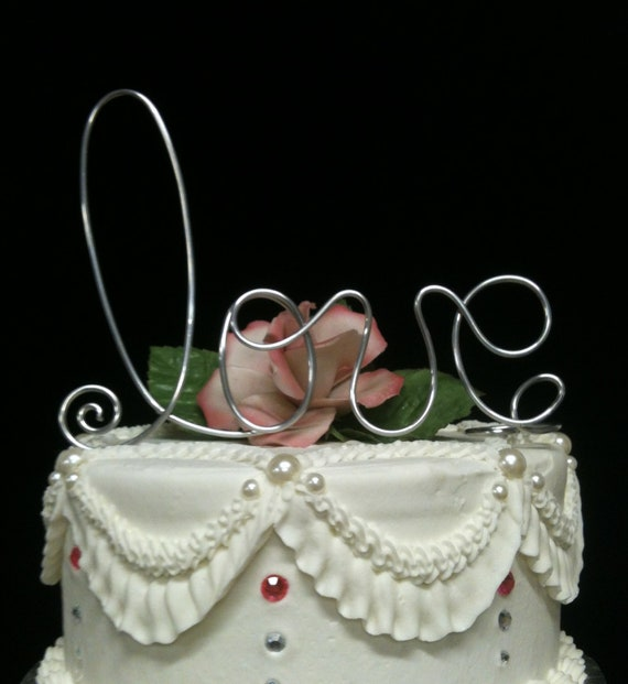 LOVE  Wedding Cake Topper Elegant Table decoration Romantic  Wedding  Garden Party and Whimsical Anniversary