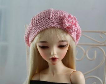 Light Pink Crochet Hat for MSD BJD, Minifee, MNF