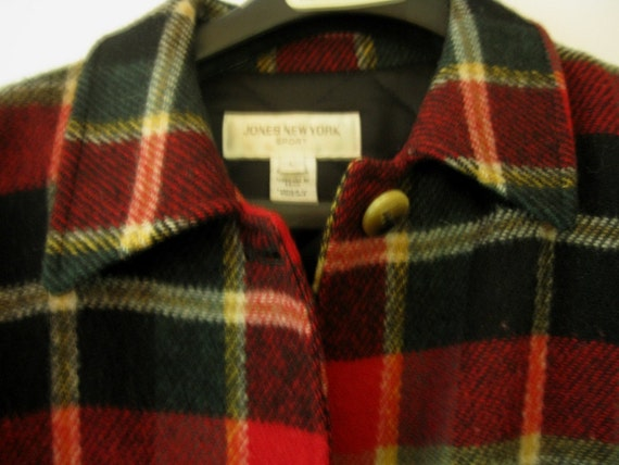 Vintage Plaid Jacket From Jones New York, Size Large