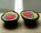 Felted Geode Kit, Needle Felting Tutorial for Kids and Children, Wool Craft, Winter Crafting, Wool, diy, Christmas Gift Idea
