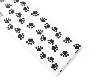 Pattern Magnet - Chart Keeper Magnetic Bookmark - Knitting Crochet Supplies Tools - Set of 3 - White Puppy Dog Paws