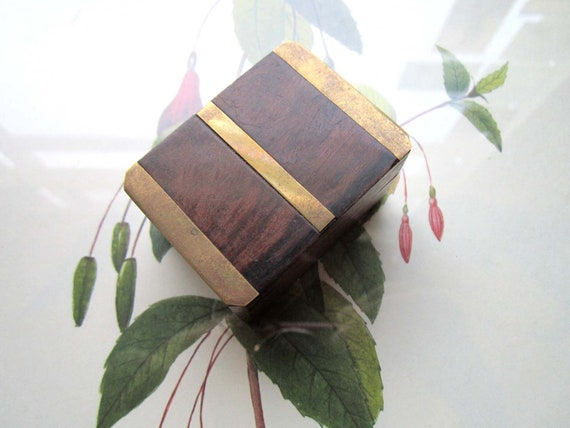 Small Vintage Box with brass
