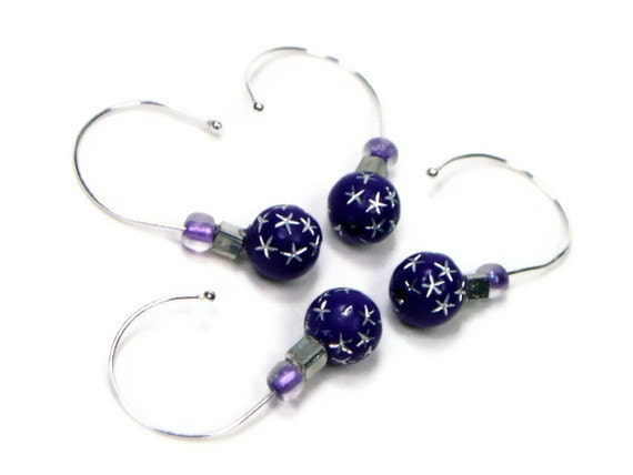 Knitting Markers Homemade : Snag free stitch markers set crochet removable beaded diy