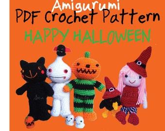 Instant Download Amigurumi PDF crochet pattern   - Halloween Set SAVE UP