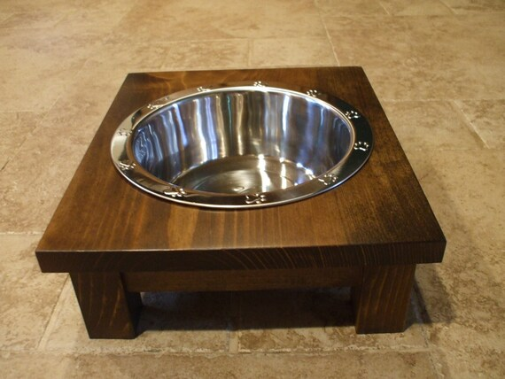 Dog Bowl Stand - 2 Qt 4 Inch Single - Classic Design - Elevated Pet Feeder - Raised Dog Bowl - Elevated Dog Bowl - Raised Dog Feeder