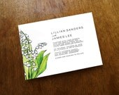 Lily of the Valley Wedding Invitation - Serif Font