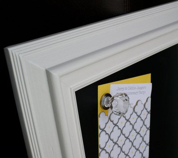"Chalk Magnet Board, 22"" x 26"", 3 XL Magnets, White or Black Frame - Bedroom, Kitchen, Office, Nursery, Wedding"
