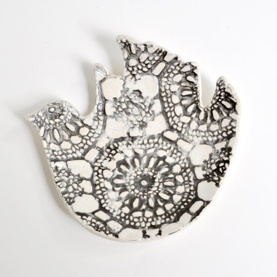 ceramic plate ceramic bird plate handmade dinnerware wedding decor table setting