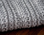 Ostrich - Hand Knit Baby Blanket - Made to Order
