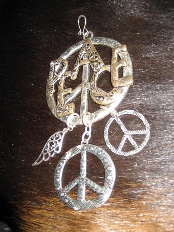 SALE Peace Sign Charm Pendant