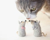Art Photography   Cat and Two Toy Mice in digital format