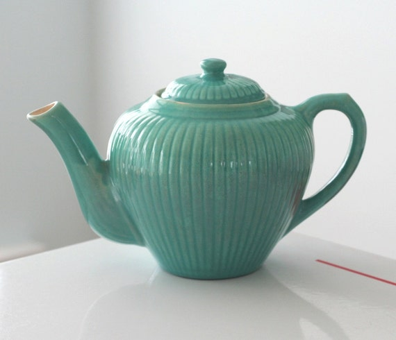 Red Wing Reed Gypsy Trail Turquoise Teapot