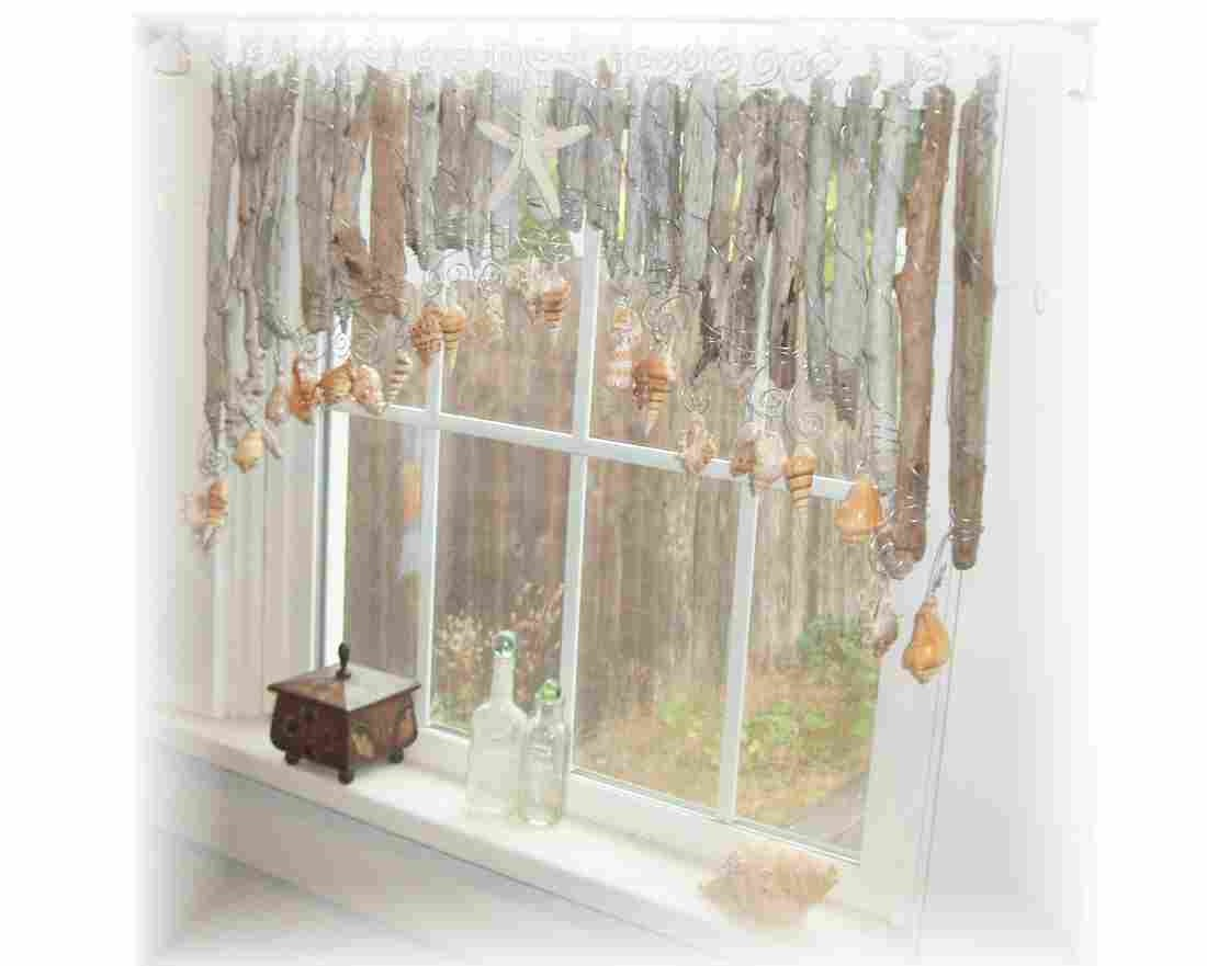 Beachy Keen Natural Driftwood Window Treatment Valance