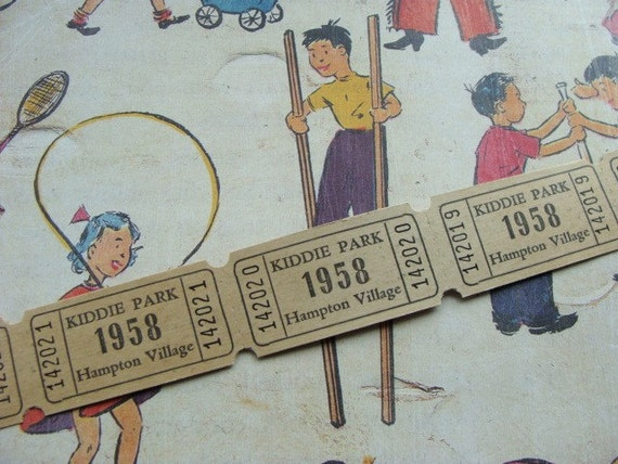 Dozen Awesome 1958  Nostalgic Antique Tickets