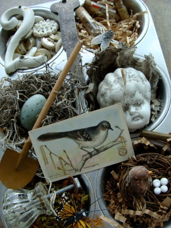 Antique Medical Bisque Steampunk Excavated Nature's Treasures for altered art and jewelry No 25
