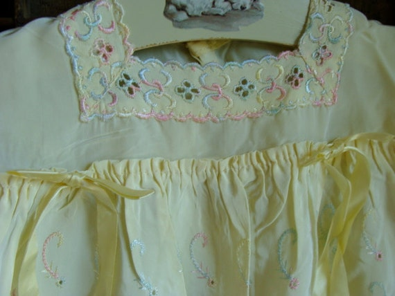 Stunning Antique Handmade Embroidered  Baby Dress