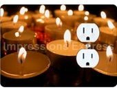 Reflective Candles Duplex Outlet Plate Cover