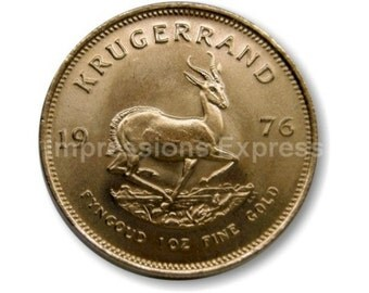 Krugerrand Gold Coin Round Mousepad
