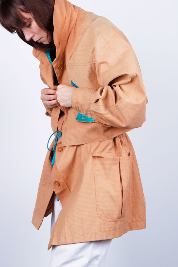 80's sun bleached OUTERWEAR coat for petite ME