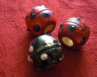 Set of 3 Large Space Ball Dread Beads Hand Painted Wooden Round Big Fat Dreadlock Lock Bead Accessories Chunky Wood 9mm Diameter Hole Dreads