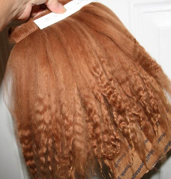 "Suri Alpaca 2012 Med Brown 9""-11"" Locks 39"" L weft  Perfect for Doll Wig Making, Reborns, Rooting"