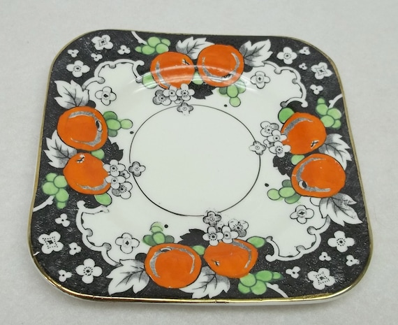 Woods Gallery Bursley Ware Square Tea Plate 1927 design collectible, home deco, tea time