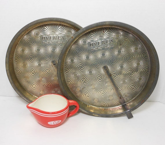 Vintage Pie Tins Ovenex Slider Pans Mid Century Kitchen Baking