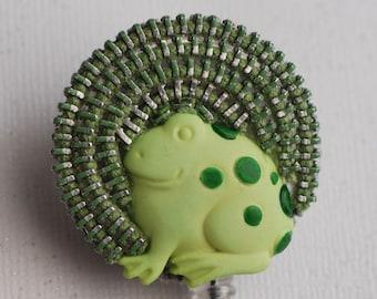 Chubb Froggy Vintage Zipper ID Badge Reel