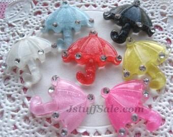 7 pcs Colorful Umbrella cabochons mixed color (Y262)