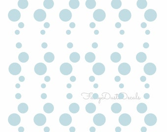 Bubbles wall decals, bubble vinyl stickers, water bubbles, fish bubbles, beach water ocean, vinyl decals for walls, under the sea decal