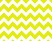 WINTER SALE - Medium Chevron Stripe in Neon Green - C320-104 - 1 Yard - Riley Blake Designs