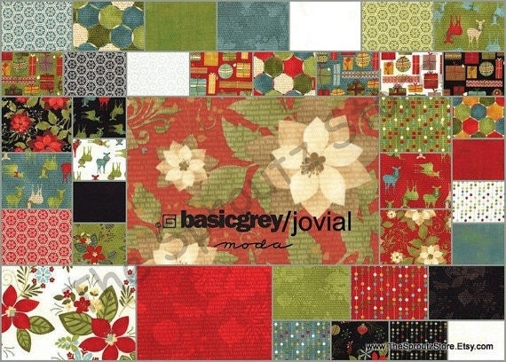 Jovial by Basic Grey  for Moda Fabrics - Jelly Roll - SALE