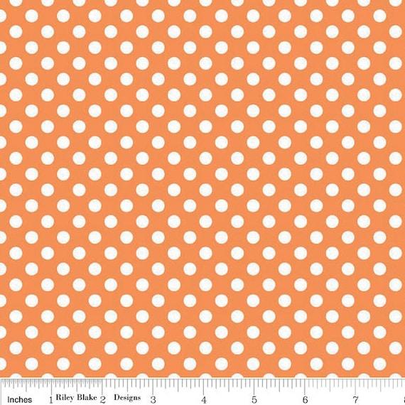 Small Dots in Orange - sku C350 60 - by Riley Blake Designs - 1 Yard