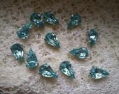 Vintage Swarovski Light Sapphire Teardrop Rhinestone Sew On