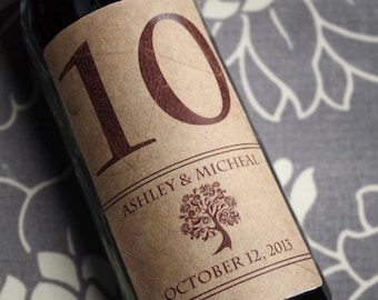 Wine Label Table Numbers .......Choose your Colors... Subtle Fall