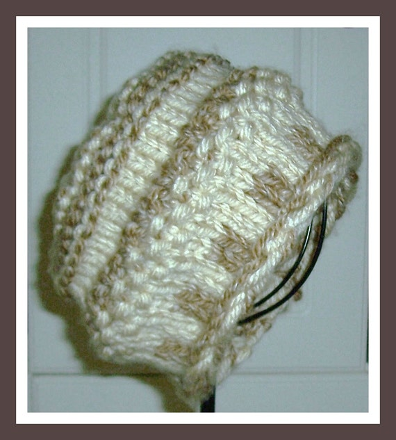 Knitted Textured Watch Cap Pattern