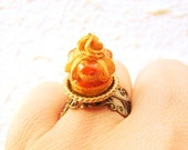 Kawaii Food Ring Caramel Cake Miniature Food Jewelry Gifts Under 10 SALE