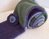 Cashmere Scarf with flower pin made from recycled sweaters so soft