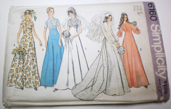 Vintage wedding dresses sewing pattern kate middleton boho for Lace wedding dress patterns to sew