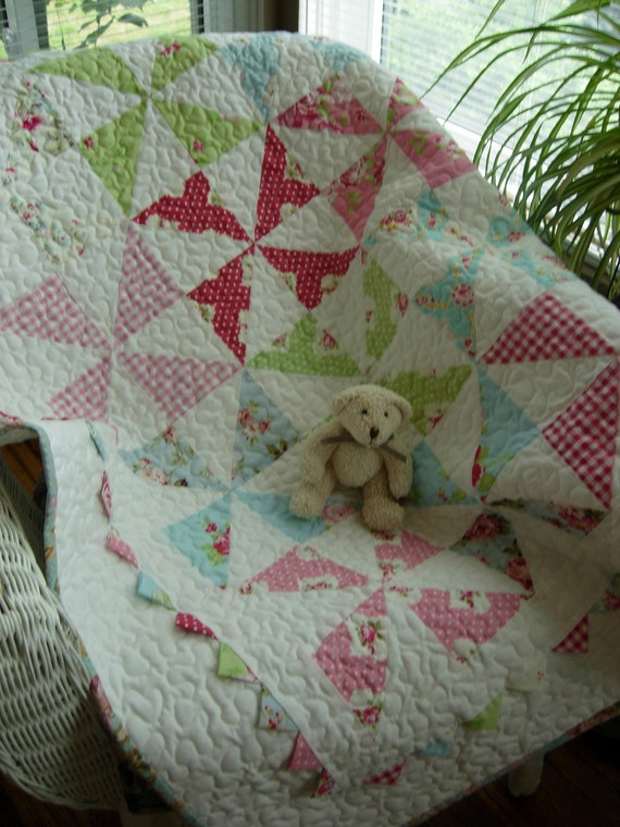 Reserved For JeNai  Rosy Baby Pinweel Quilt