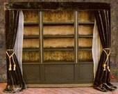 Miniature Library of Forgotten Books Bookshelf and Ladder